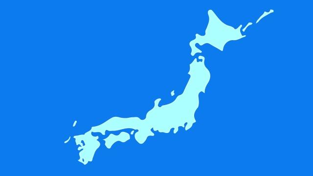 日本地図 県名表示や白地図のダウンロード
